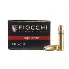 Fiocchi Shooting Dynamics .22 Long Rifle 38 Gr. Plated Lead Hollow Point- 22FHVCHP-50