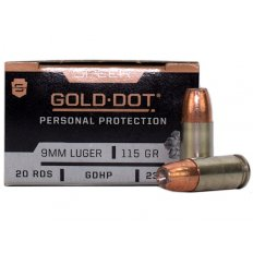 Speer Gold Dot Personal Protection 9mm Luger 115 Gr. GDHP-23614GD