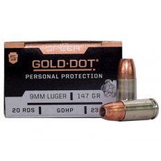 Speer Gold Dot Personal Protection 9mm Luger 147 Gr. GDHP- 23619GD