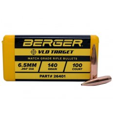 Berger Bullets .264 Caliber, 6.5mm (264 Diameter) 140 Gr Target VLD Hollow Point Boat Tail- Box of 100 26401