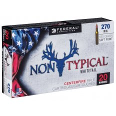 Federal Non-Typical 270 Winchester 130 Gr. Soft Point- 270DT130