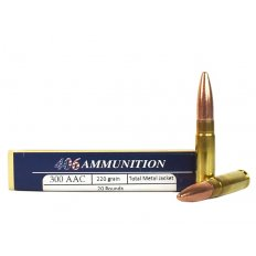 406Ammunition .300 AAC Blackout 220 Gr. Total Metal Jacket Subsonic 300AAC-220SUB-TMJ.20