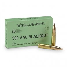 Sellier & Bellot .300 AAC Blackout 124 Gr. Full Metal Jacket- 300BLKA