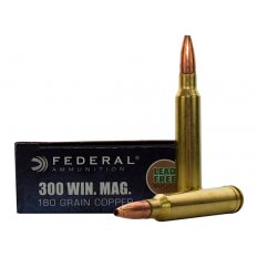 Federal Power-Shok .300 Winchester Magnum 180 Gr. Copper Hollow Point- Lead-Free- Box of 20 300W180LFA