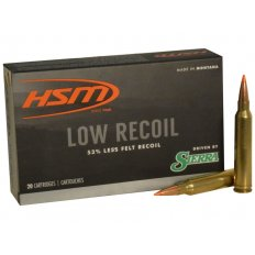 HSM Low Recoil .300 Winchester Magnum 150 Gr. Sierra Tipped Spitzer Boat Tail- 300WinMAG-42-N