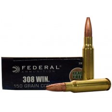 Federal Power-Shok .308 Winchester 150 Gr. Copper Hollow Point- Lead-Free- Box of 20 308150LFA