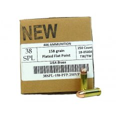 406Ammunition .38 Special 158 Gr. Plated Flat Point 38SPL158250