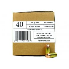 406Ammunition .40 S&W 180 Gr. Plated Flat Point Remanufactured 40180250R
