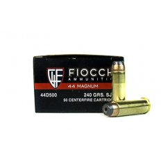 Fiocchi Shooting Dynamics .44 Remington Magnum 240 Gr. Semi-Jacketed Hollow Point- 44D500