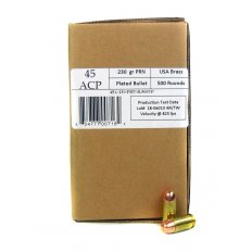 406Ammunition .45 Acp 230 Gr. Plated Flat Point Remanufactured - 45230500