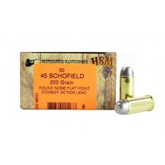 """HSM .45 Schofield 200 Gr. Round Nose Flat Point """"Cowboy Action"""" Lead- 45S-1-N"""