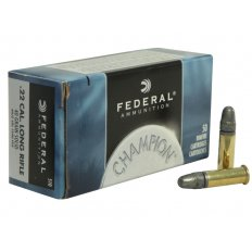 Federal Champion .22 Long Rifle High Velocity 40 Gr. Lead Round Nose- 510-50