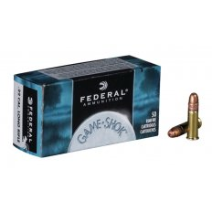 Federal Game-Shok .22 Long Rifle High Velocity 40 Gr. Plated Lead Round Nose- 710-50