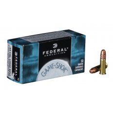 Federal Game-Shok .22 Long Rifle High Velocity 38 Gr. Plated Lead Hollow Point-712-50