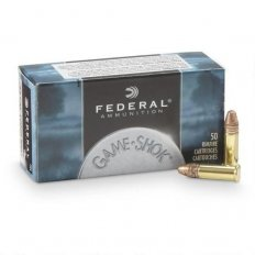 Federal Game-Shok .22 Long Rifle Hyper Velocity 31 Gr. Plated Lead Hollow Point- 724-50