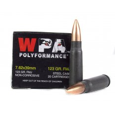 Wolf 7.62x39mm 123 Gr. Full Metal Jacket (Bi-Metal)- 762BFMJ