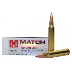 Hornady Match .300 Winchester Magnum 195 Gr. ELD Match- Box of 20 82180