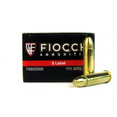 Fiocchi 8mm Lebel Revolver 111 Gr. Full Metal Jacket- 8L
