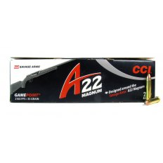 CCI Savage Arms A22 GamePoint .22 Winchester Magnum Rimfire (WMR) 35 Gr. Jacketed Spire Point- 963CC