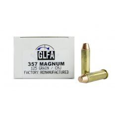 GLFA .357 Magnum 125 Gr. Plated Flat Point- Remanufactured-A686552