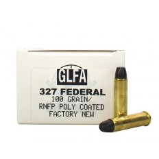 GLFA .327 Federal Magnum 100 Gr. Polymer Coated Round Nose Flat Point- Box of 50 A686736
