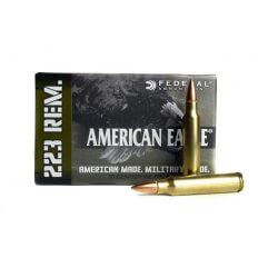 Federal American Eagle .223 Remington 55 Gr. Full Metal Jacket- AE223M-CASE