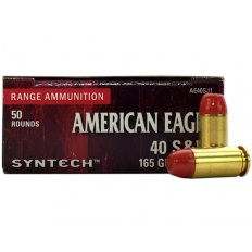 Federal Syntech .40 S&W 165 Gr. Flat Nose Synthetic Jacket- Box of 50 AE40SJ1