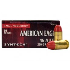 Federal Syntech .45 Auto 230 Gr. Round Nose Synthetic Jacket- AE45SJ1