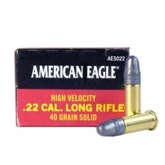 Federal American Eagle .22 Long Rifle 40 Gr. High Velocity Lead Round Nose- Box of 50 AE5022