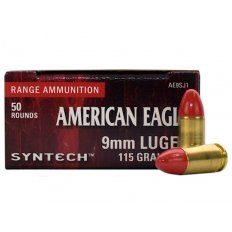 Federal Syntech 9mm Luger 115 Gr. Round Nose Synthetic Jacket- AE9SJ1