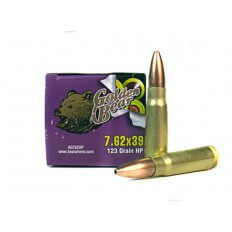 Golden Bear 7.62x39 123 Gr. HP (Bi-Metal)- AG762HP