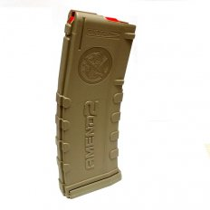 Amend2 AR-15 5.56x45mm 30-Round Magazine with Red Follower- AMNM556FDE30