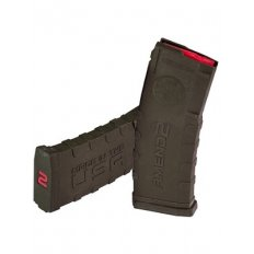 Amend2 AR-15 5.56x45mm 30-Round Magazine with Red Follower- AMNM556BLK30