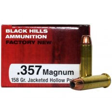 Black Hills .357 Magnum 158 Gr. Jacketed Hollow Point- Box of 50 D357N3