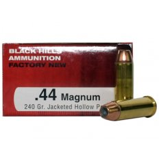 Black Hills .44 Remington Magnum 240 Gr. Jacketed Hollow Point- Box of 50 D44MN2