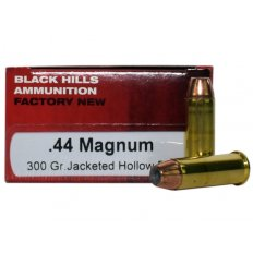 Black Hills .44 Remington Magnum 300 Gr. Jacketed Hollow Point- Box of 50 D44MN3