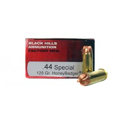 Black Hills .44 Special 125 Gr. Solid Copper HoneyBadger- D44SPLN3