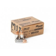 Sig Sauer M17  9mm Luger +P 124 Gr. V-Crown Jacketed Hollow Point- E9MMB2P-M17-20