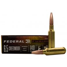 Federal Fusion 6.5 Creedmoor 140 Gr. Bonded Soft Point- Box of 20