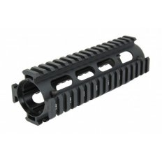 "AR15 Light Weight 2-Piece Drop-In Quad Rail 7""- Aluminum Black- HG01-7"