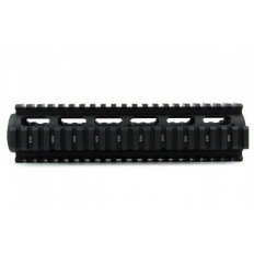 "AR15 Light Weight 2-Piece Drop-In Quad Rail 9""- Aluminum Black- HG01-9"