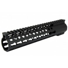 AR15 Slim KeyMod Free-Float Clamp-On Handguard with Detachable Rails 10""