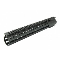 AR15 Slim KeyMod Free-Float Clamp-On Handguard with Detachable Rails 15""