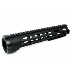 "AR15 Slim Style Free-Float 1-Piece Quad Rail with Detachable Rails 12""- Aluminum Black- HG03-12"
