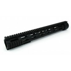 "AR15 Slim Style Free-Float 1-Piece Quad Rail with Detachable Rails 16.5""- Aluminum Black- HG03-16.5"