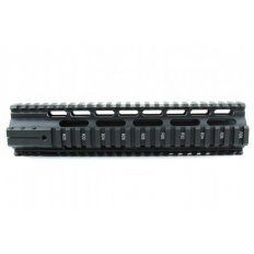 "AR15 Slim Style Free-Float 1-Piece Clamp-On Quad Rail 10""- Aluminum Black- HG04-10"