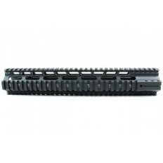 "AR15 Slim Style Free-Float 1-Piece Clamp-On Quad Rail 12""- Aluminum Black- HG04-12"