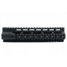 "AR15 Slim Style Free-Float 1-Piece Clamp-On Quad Rail 7""- Aluminum Black- HG04-7"