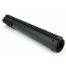 "AR15 Carbon Fiber Tube Style Free-Float Handguard with Removable Picatinny Rails 15""- Black- HG06-15"