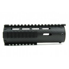 "AR15 Carbon Fiber Tube Style Free-Float Handguard with Removable Picatinny Rails 7""- Black- HG06-7"